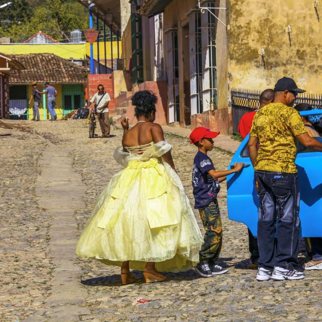 """Cuba wedding party"" stock image"