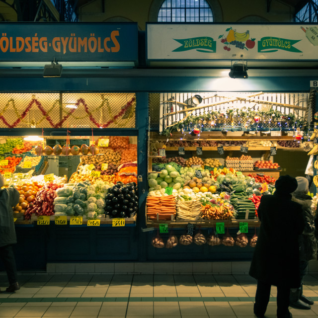 """Market in Budapest"" stock image"