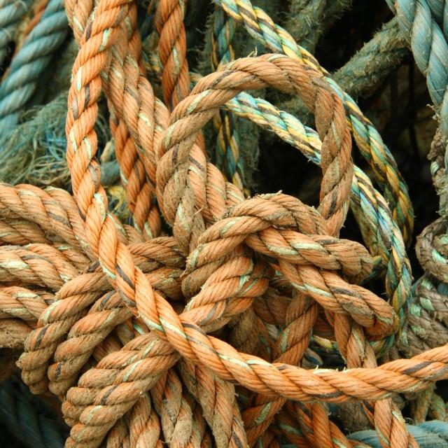 """Crab Boat Ropes"" stock image"