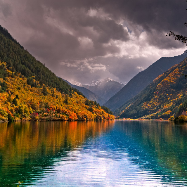 """Rhinoceros Lake, Jiuzhaigou"" stock image"