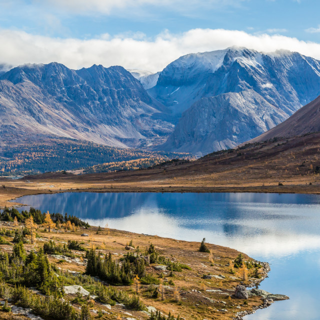 """Canadian Rockies in the fall"" stock image"