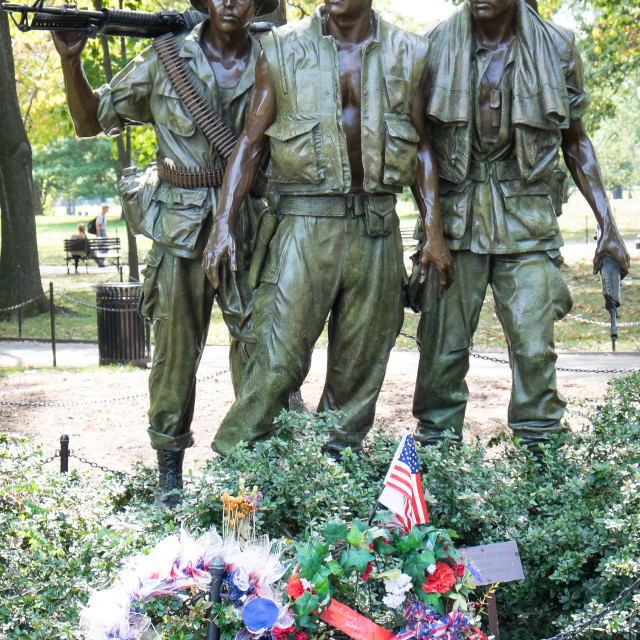 """Vietnam War Memorial Statue"" stock image"