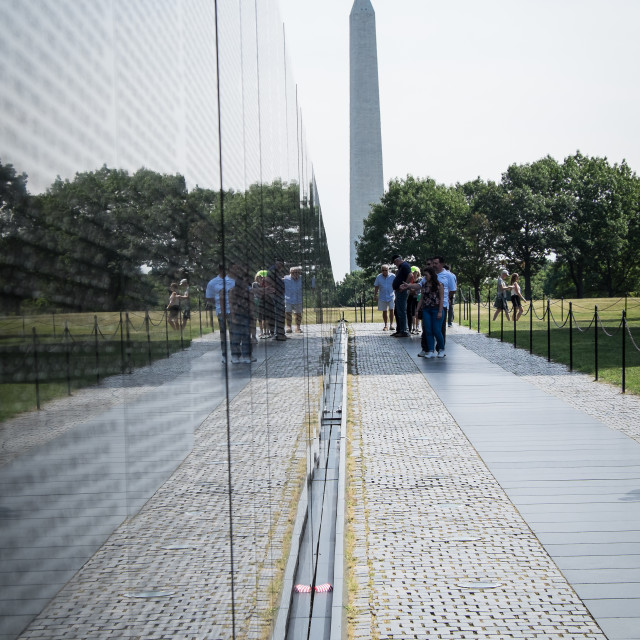 """Vietnam War to Washington Monument"" stock image"
