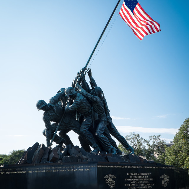 """US Marine Corps Memorial"" stock image"