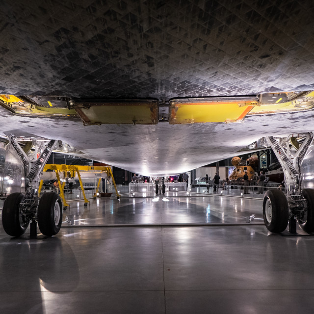 """Space Shuttle Discovery Undercarriage"" stock image"