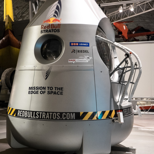 """Red Bull Stratos Capsule"" stock image"