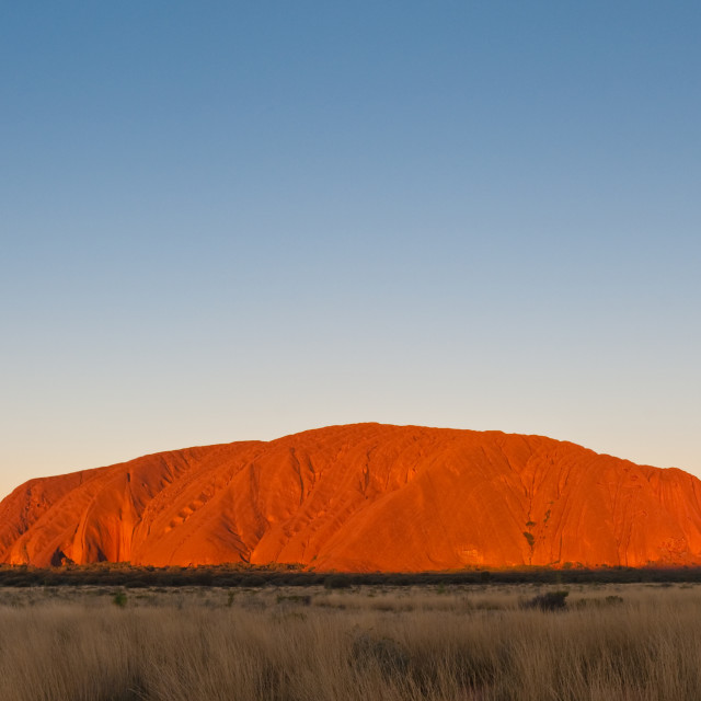 """Uluru at Sunset"" stock image"