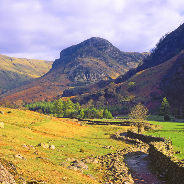 """Eagle Crag, Borrowdale"" stock image"