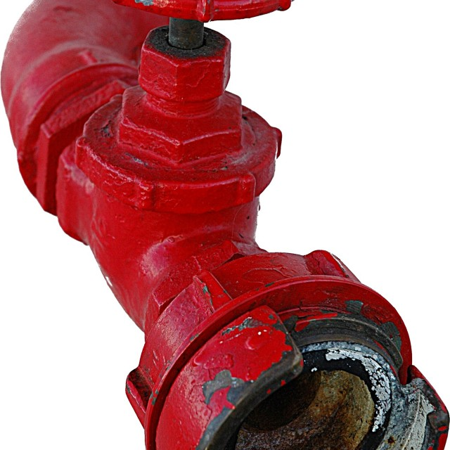 """""""Red metal pipe"""" stock image"""