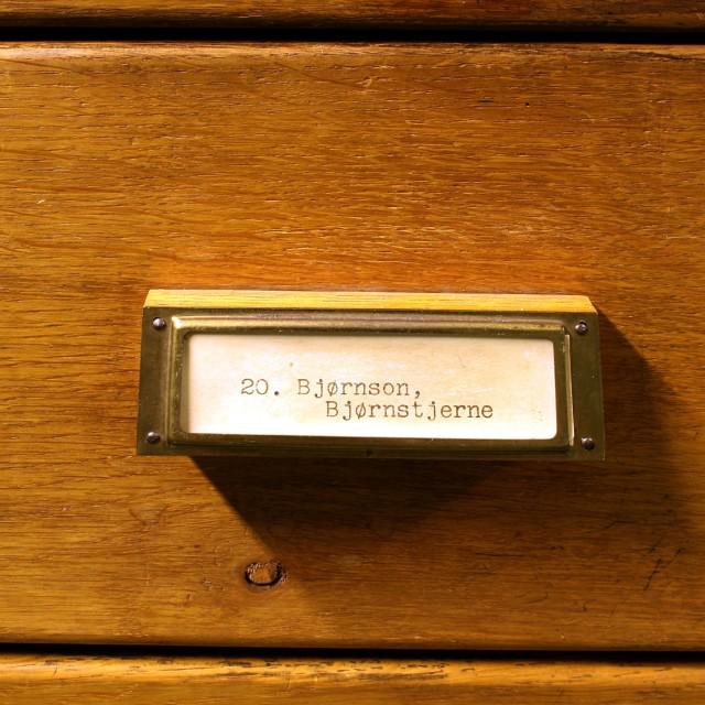"""""""Bjørnstjerne Bjørnson drawer"""" stock image"""