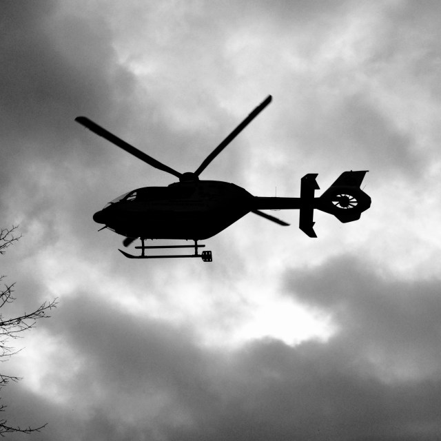 """""""Rescue Helicopter"""" stock image"""