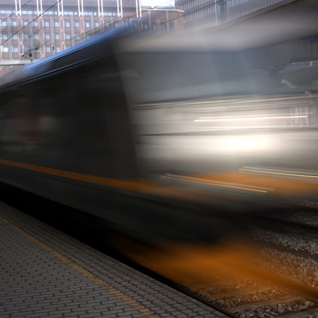 """""""Fast moving train"""" stock image"""