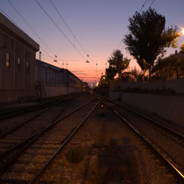 """Oeiras railway station Portugal"" stock image"