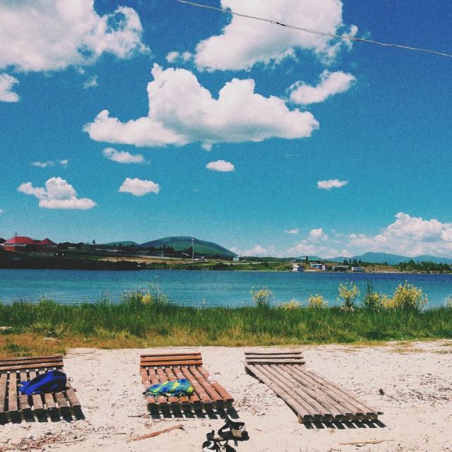 """Beach in Armenia"" stock image"