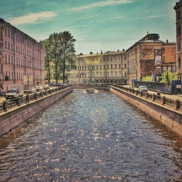 """Canal of Saint-Peterburg"" stock image"