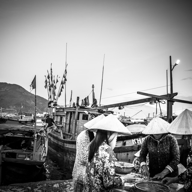 """Fishery village"" stock image"