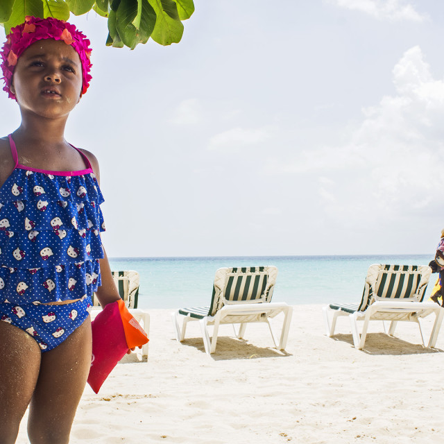 """Little Girl On Beach"" stock image"
