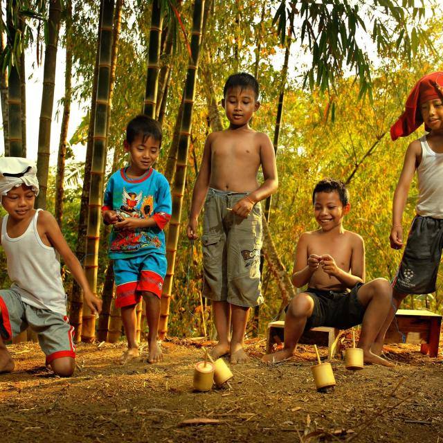 """Bamboo Gasing"" stock image"