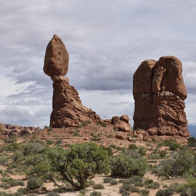 """Balanced Rock"" stock image"