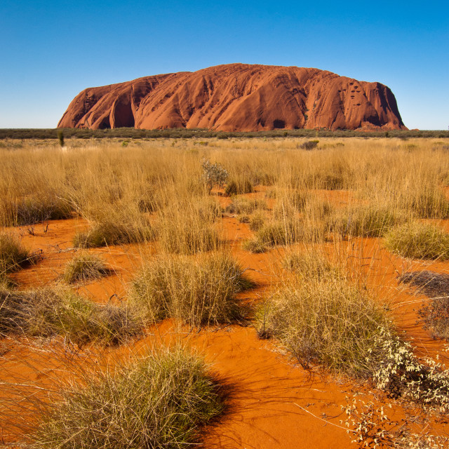 """Uluru, late afternoon"" stock image"
