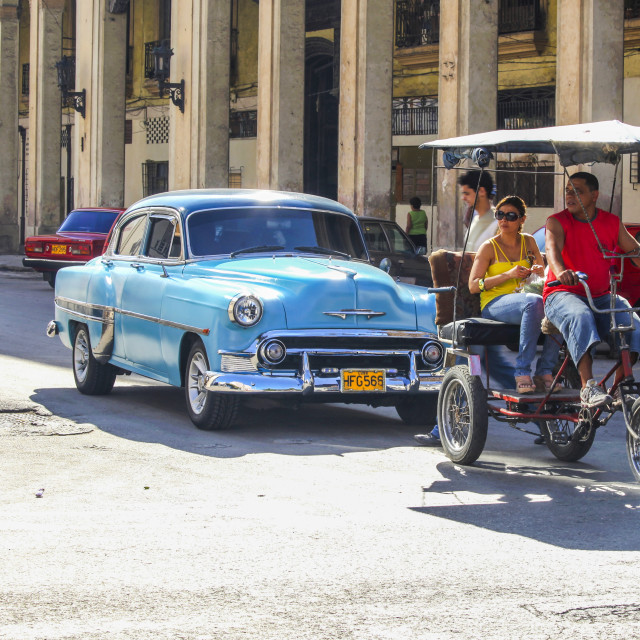 """Cuban transport"" stock image"