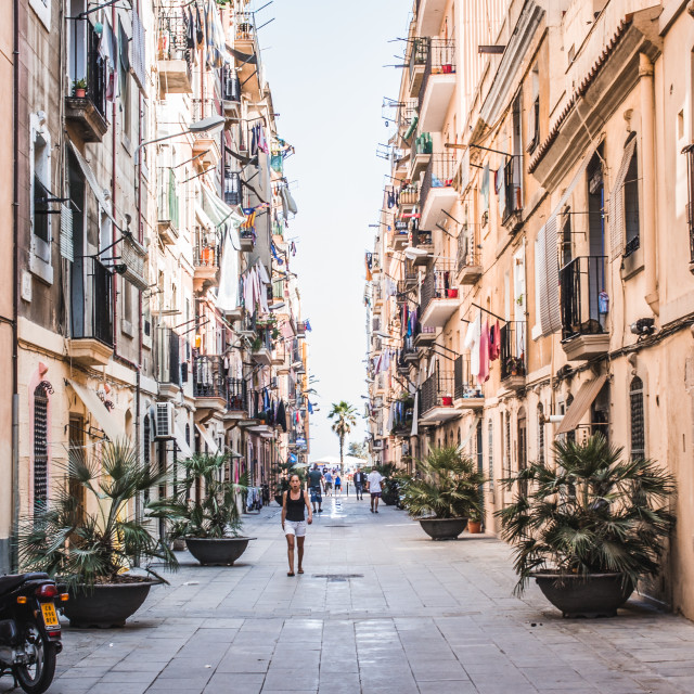 """Barcelona Backstreet"" stock image"