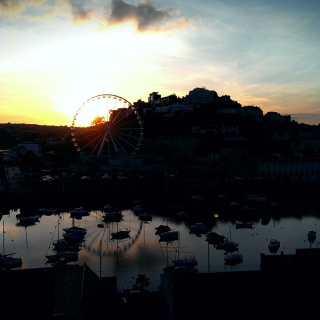 """TORQUAY SILLOUETTE"" stock image"