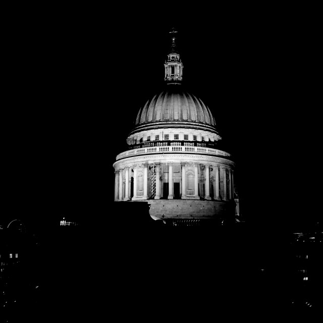 """St Pauls at Night"" stock image"