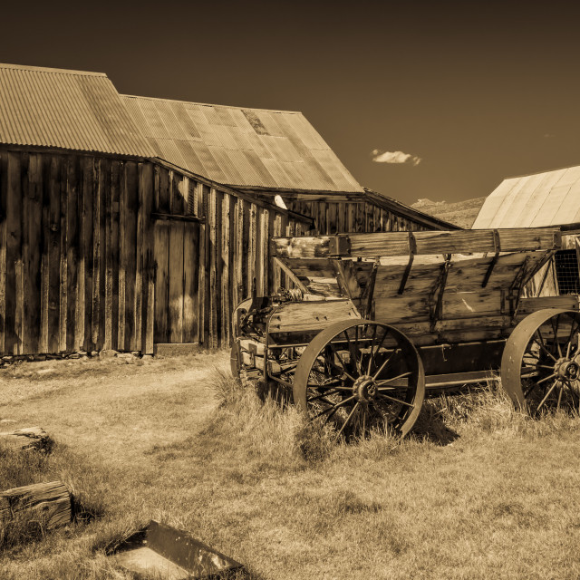 """Ghost Town Sepia"" stock image"