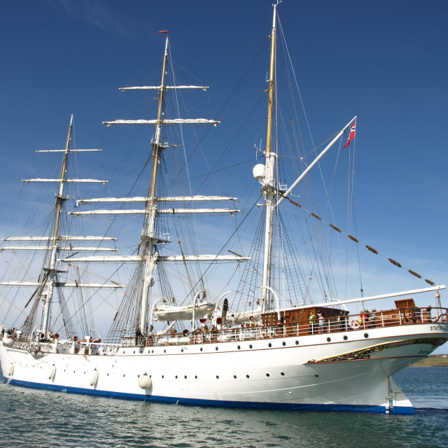 """Statsraad Lehmkuhl tall ship"" stock image"