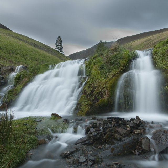 """""""Waterfall beneath Skiddaw"""" stock image"""