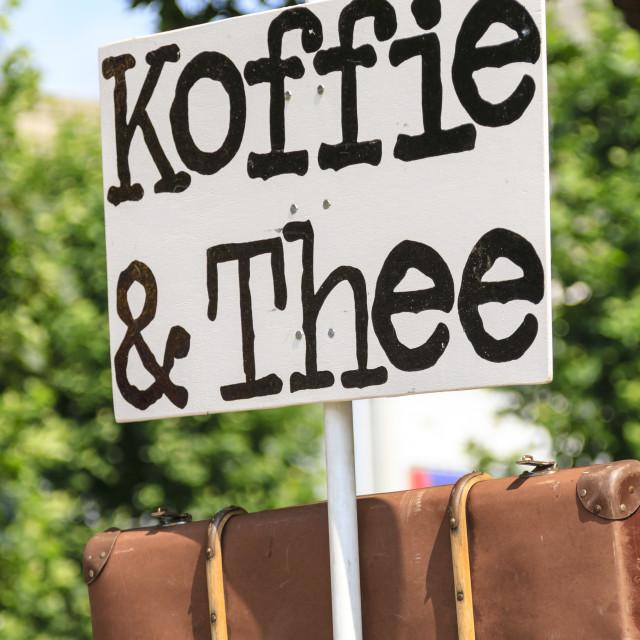 """Coffee and tea sign"" stock image"