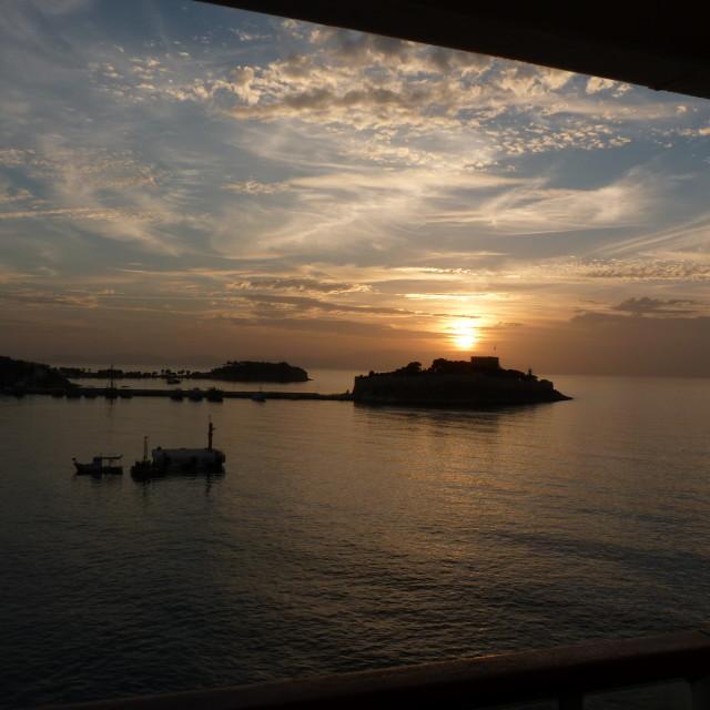 """Kusadasi Sunset"" stock image"