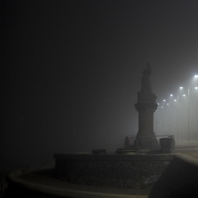 """Triton Shrouded in Fog"" stock image"