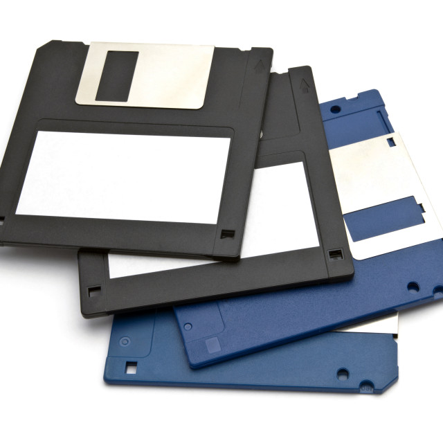 """Computer floppy disk"" stock image"