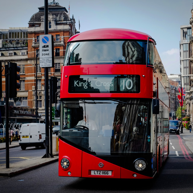 """Bus in London"" stock image"