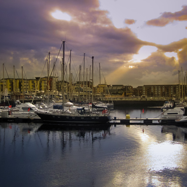 """Swansea marina composition"" stock image"