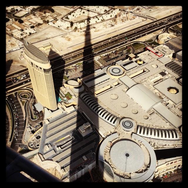 """Shadow of The Burj Khalif, Dubai"" stock image"