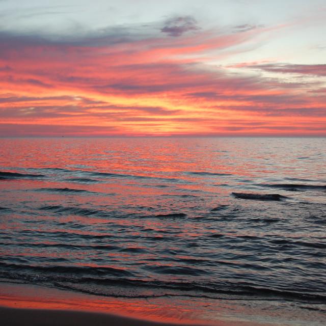 """""""Serenity at Lake Michigan"""" stock image"""