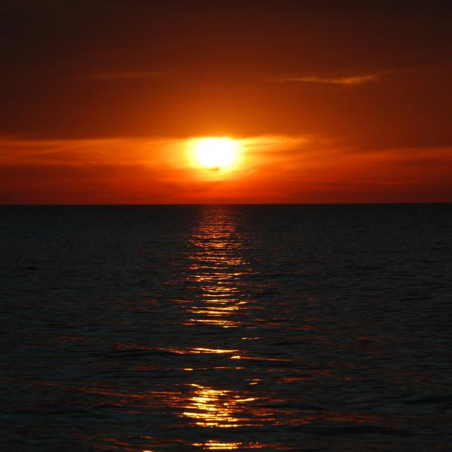 """Liquid Gold Sunset"" stock image"