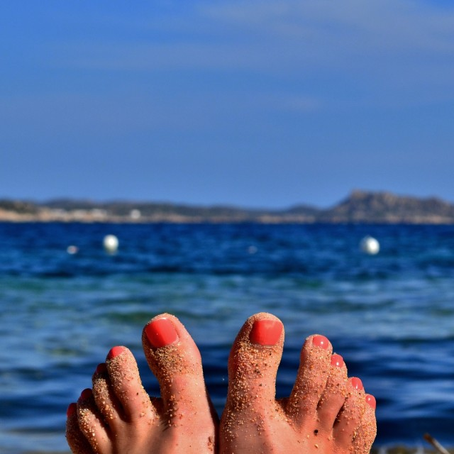 """Beach Toes"" stock image"