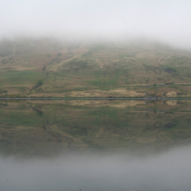 """Misty Scottish loch"" stock image"