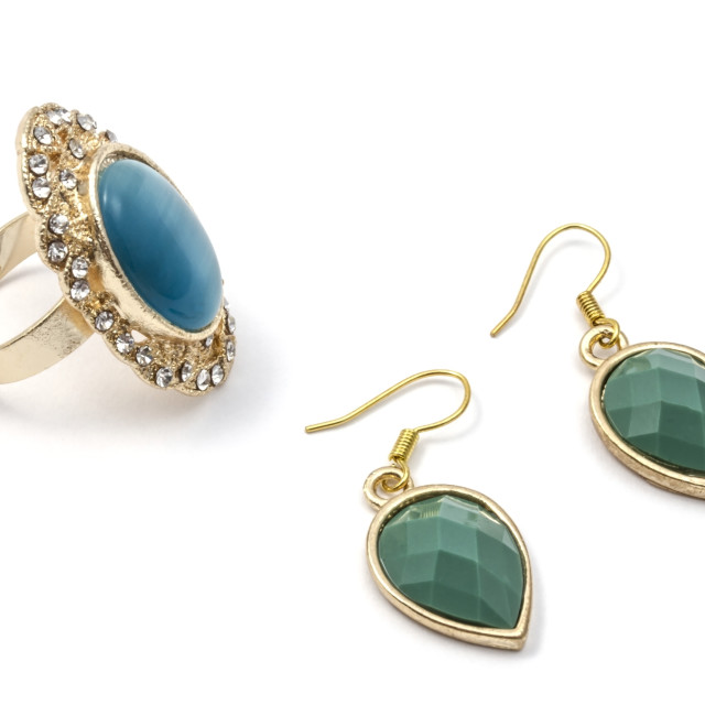 """""""earrings and ring"""" stock image"""