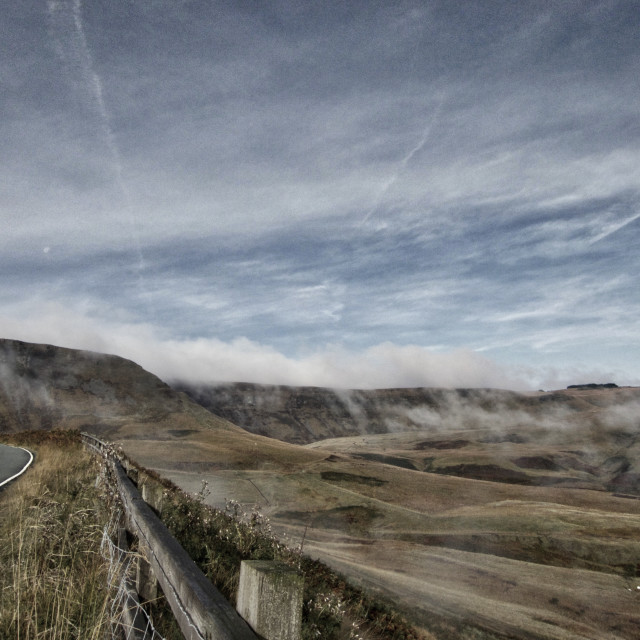 """Dragons Breath in Cwmparc"" stock image"