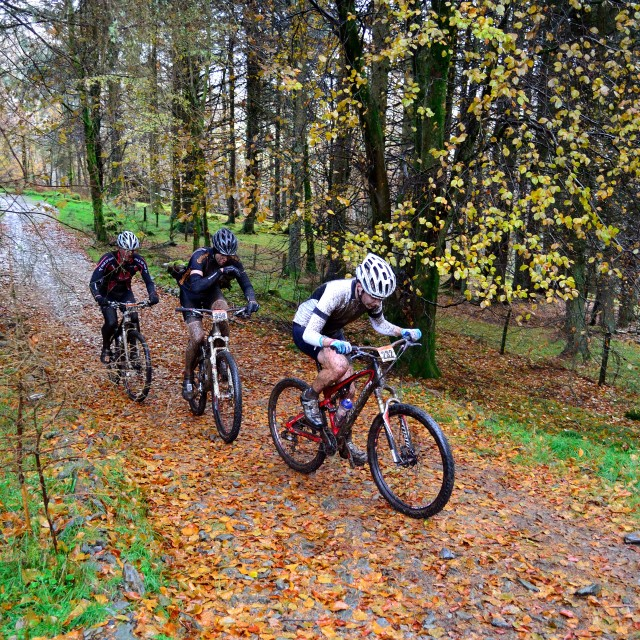 """""""Autumn cycling"""" stock image"""