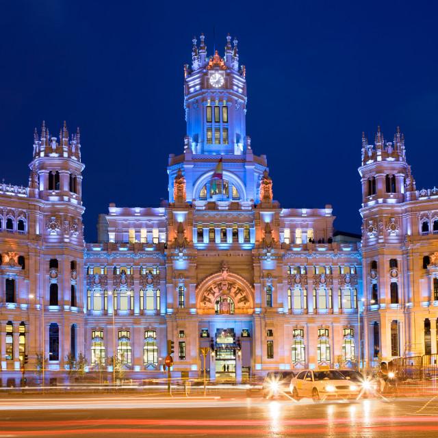 """""""Palacio de Comunicaciones in Madrid"""" stock image"""