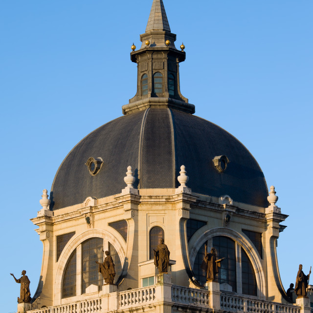 """""""Almudena Cathedral Dome in Madrid"""" stock image"""