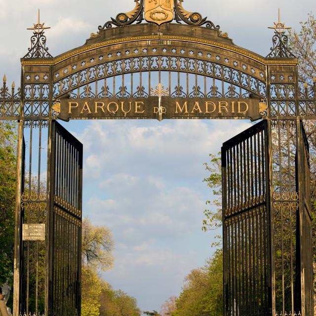 """""""Retiro Park Entrance in Madrid"""" stock image"""