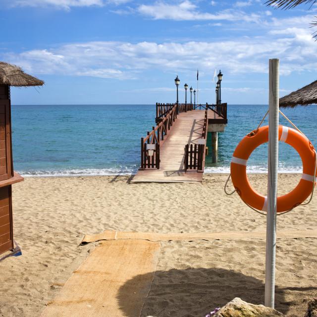 """Marbella Beach in Spain"" stock image"