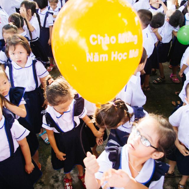 """""""Happy new school day!"""" stock image"""
